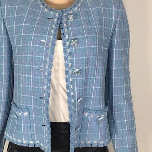 ST. JOHN Collection By MARIE GRAY blue blazer 6💥